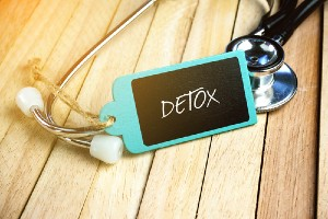 Detox sign with stethoscope